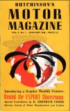Hutchinson's Motor Magazine Vol 2 No 1 January 1948 extracts cover