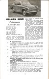 Motor Manual Road Tests Annual 1958 Hillman Minx brief review small