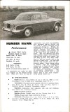 Motor Manual Road Tests Annual 1958 Humber Hawk brief review small
