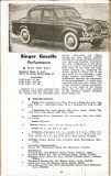 Motor Manual Road Tests Annual 1958 Singer Gazelle brief review small