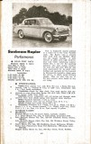 Motor Manual Road Tests Annual 1958 Sunbeam Rapier brief review small
