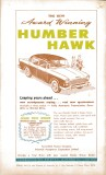 Motor Manual Road Tests Annual 1958 The New Award Winning Humber Hawk advertisement small