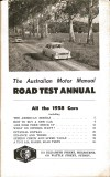Motor Manual Road Tests Annual 1958 contents small