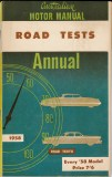 Motor Manual Road Tests Annual 1958 cover small