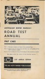 Motor Manual Road Tests Annual 1967 contents small