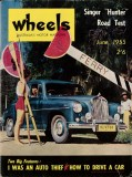 Wheels magazine June 1955 - Cover